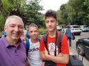 Grigorije i Sava sa trenerom