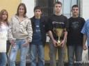 Naši mladi strelci sa sekretarom kluba Veljkovićem