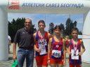 Osvajači medalja AK Tamiš sa trenerom