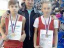 Stefan i Jelena sa trenerom Kocićem